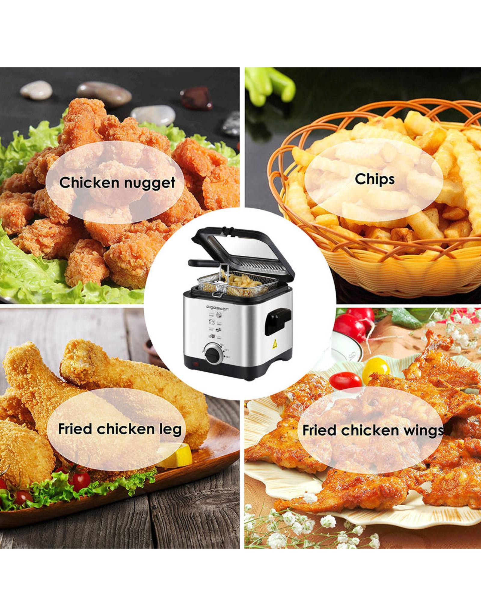Aigostar fries 30izd - compacte frituurpa/ friteuse n - rvs