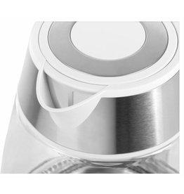 TEESA Teesa TSA1512W Elektrische glazen waterkoker inhoud 1,7 liter, RVS - wit