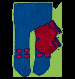 Heless Heless Poppenmaillot En Sokken Blauw/roze 35-45 Cm