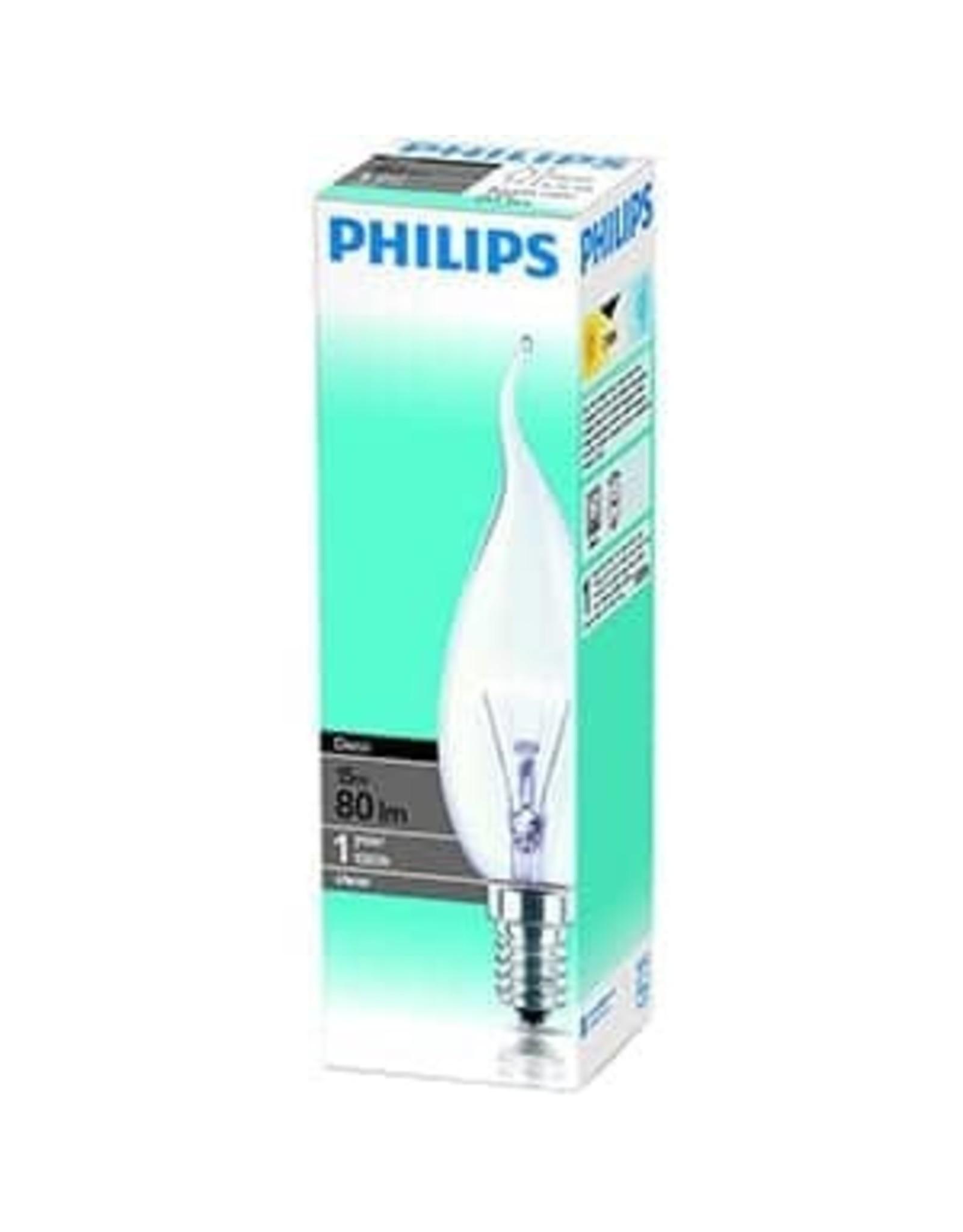 PHILIPS Philips gloeilamp kaars bended tip 15W E14 230V BXS35