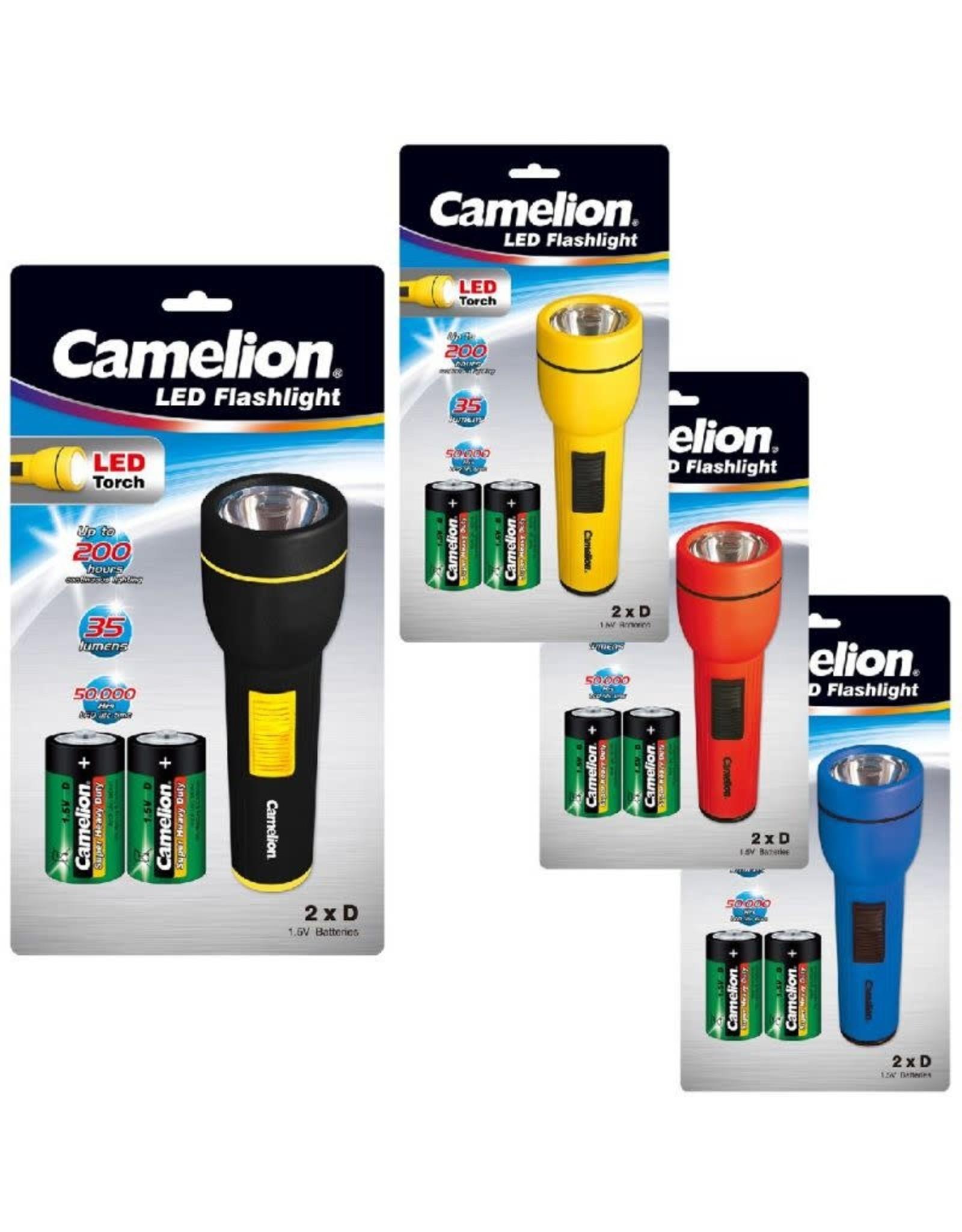 Camelion Zaklamp FL1DB2R20P Torche with 2 x R20 Batteries LED