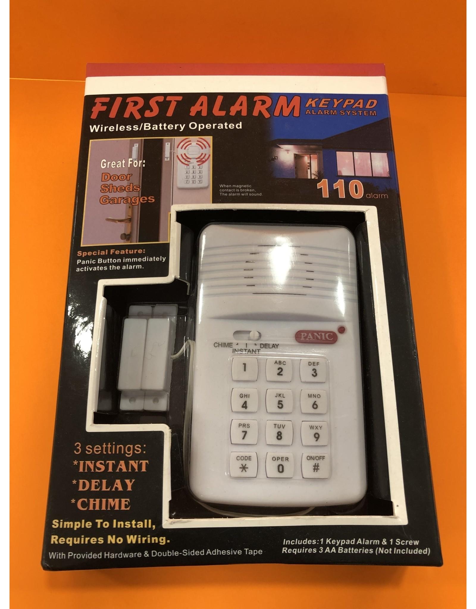 Alarm - First - Keypad Alarm System