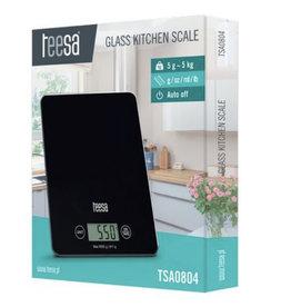 TEESA Teesa TSA0804 - glazen keukenweegschaal zwart
