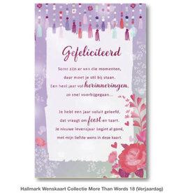 Hallmark Wenskaart Hallmark GEFELICITEERD met envelop