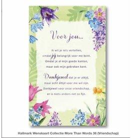 Hallmark Wenskaart Voor jou..... met envelop- Hallmark