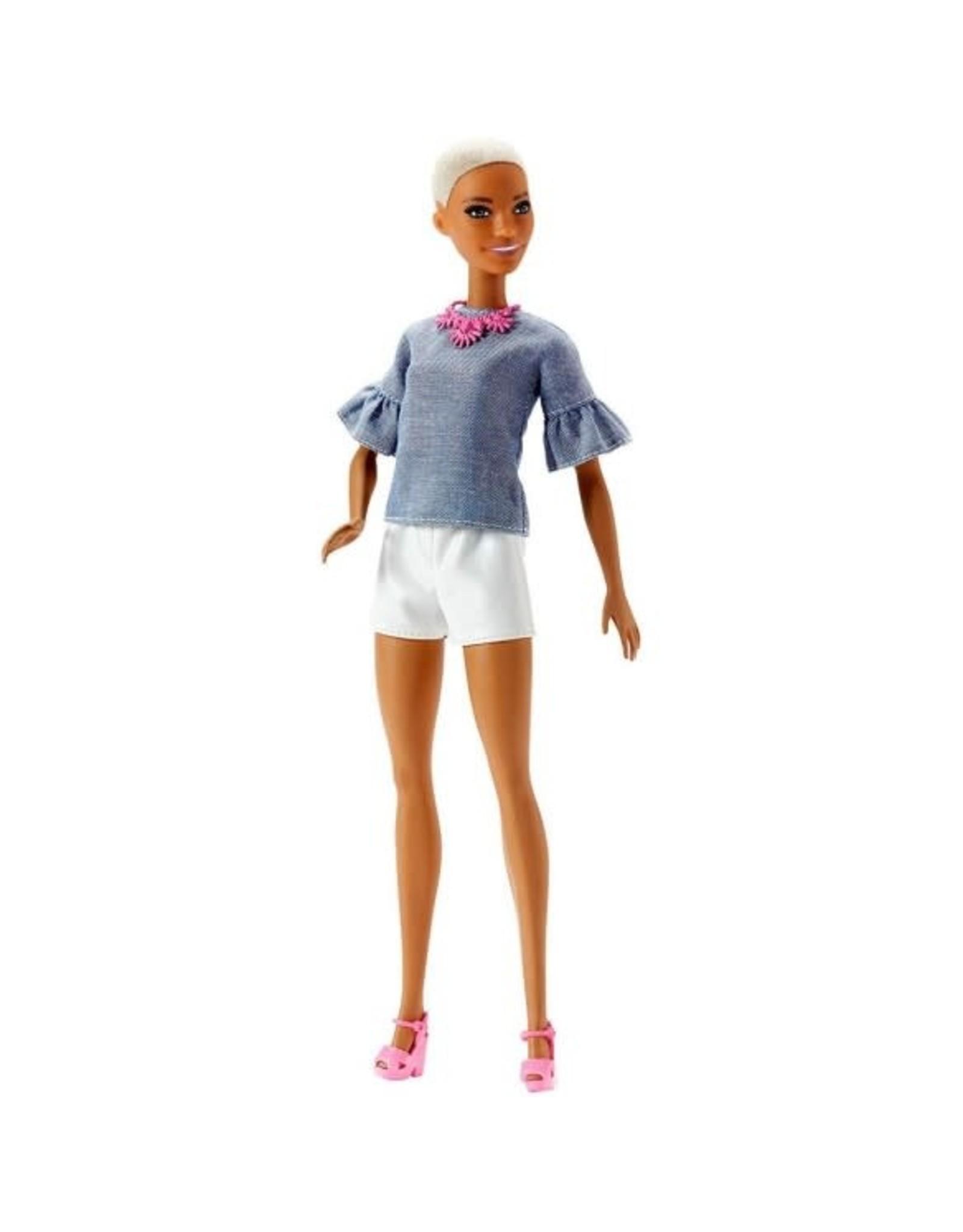 MATTEL Barbie Fashionista Tienerpop Buzz-cut En Witte Sho