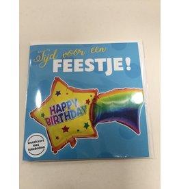 TOUCHE Wenskaart Touche HAPPY BIRTHDAY met folieballon en envelop