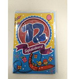 MGP CARDS Wenskaart MGP CARDS 12 gefeliciteerd met envolop