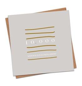 Dagelijkse broodkruimels Christelijke Kaart dagelijksebroodkruimels – Opwekking 733 – Tienduizend Redenen tot Dankbaarheid- Met envolop