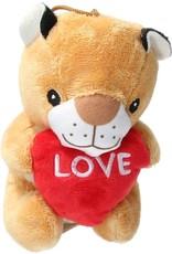 Pluche Knuffel beer met Hart Love/Pluche Knuffel olifant met Hart Love