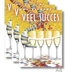 MGP CARDS Wenskaart A4 MGP CARDS-succes- met envolop
