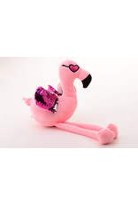 Nicky  Toy 41033 Pluche Flamingo met paillette