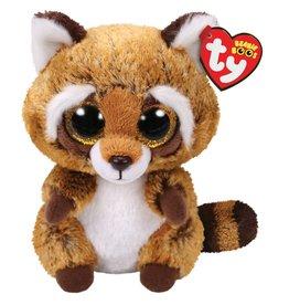 TY BEANI BOO Rusty Brown White Raccoon Boo