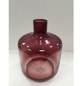 MANSION Decoratie fles donker roos 26X14x4,5cm