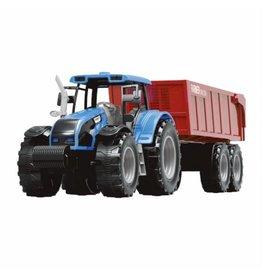 JOLLITY JollyVroom Tractor blauw + bakwagen
