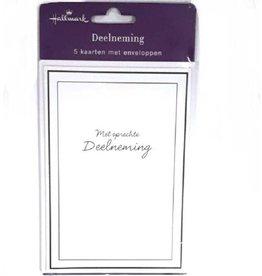 Hallmark Condoleance kaart Hallmark met envolop 5st