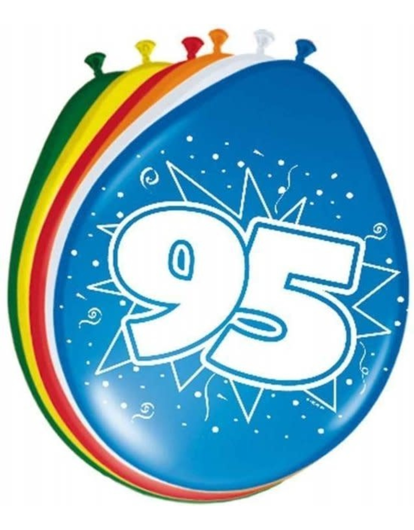 FOLAT Ballonnen 95 Jaar 30cm 8 stuks