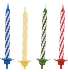 Verjaardag kaarsen gekleurde 10 stuks -taart versieren