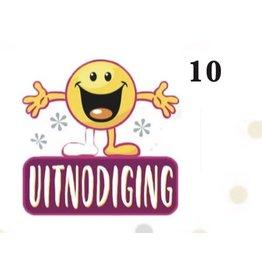 TOUCHE UITNODIGINGSKAARTEN 5 STUKS MET ENVELOPPEN -10