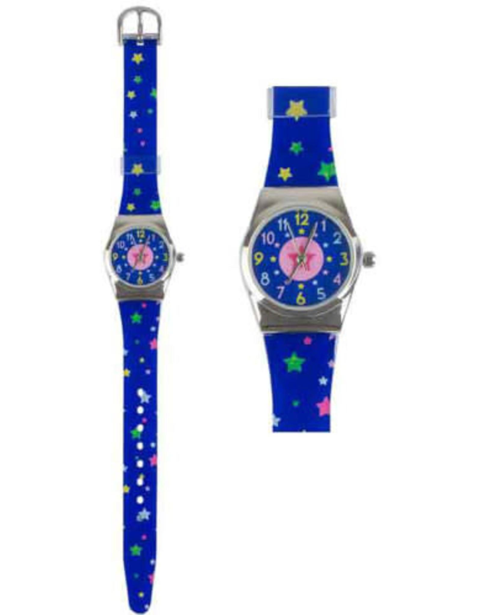 BB BB Kinderhorloge blauw met sterren