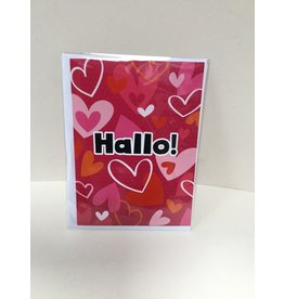 TOUCHE Wenskaart -HALLO!- Touche cards met envelop