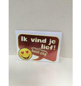 TOUCHE Wenskaart- IK VIND JE LIEF- Touche cards met envelop