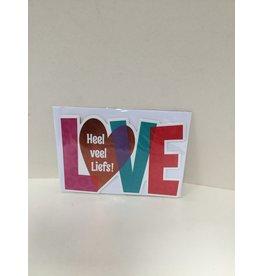 TOUCHE Wenskaart -HEEL VEEL LIEFS- Touche cards met envelop