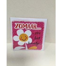 TOUCHE Wenskaart- ZOMAAR EEN LIEF KAARTJE- Touche cards met envelop
