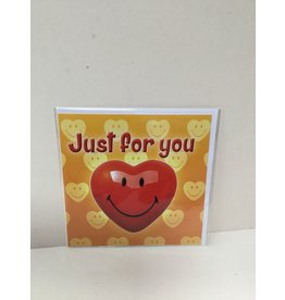 Touch Wenskaart-JUST FOR YOU-  Touche cards met envelop