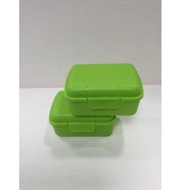 Snack box set 2 stuks groen 11,5X8,5cm