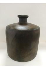 Woon decoratie fles /vaas 33,5X8,5X26,5 aardewerk