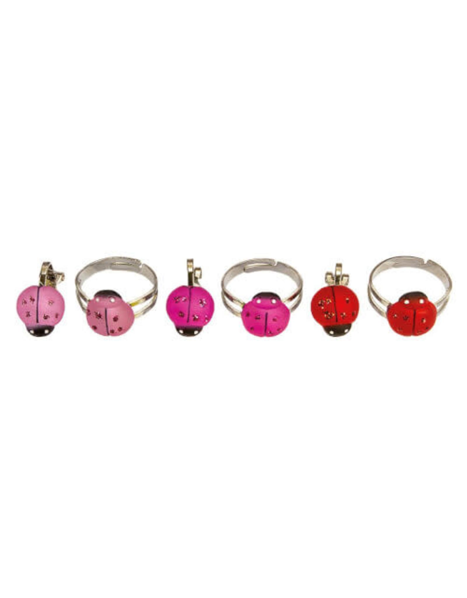 BB BB ring+oorbellen lieveheersbeestje