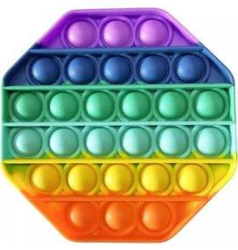 Pop it achthoek regenboog fidget toys