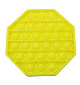 Pop it achthoek geel fidget toys