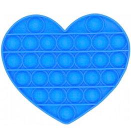 Pop it   Hart blauw fidget toys