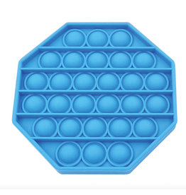 Pop it achthoek blauw fidget toys