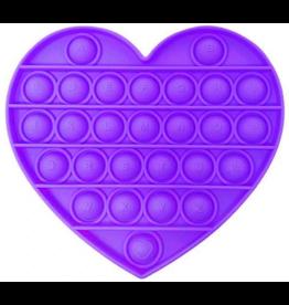 Pop it hart paars fidget toys
