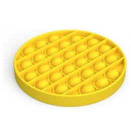 Pop it rond geel fidget toys