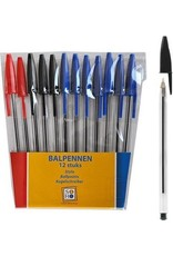SOHO Balpennen set 12/rd/zw/bl SOHO