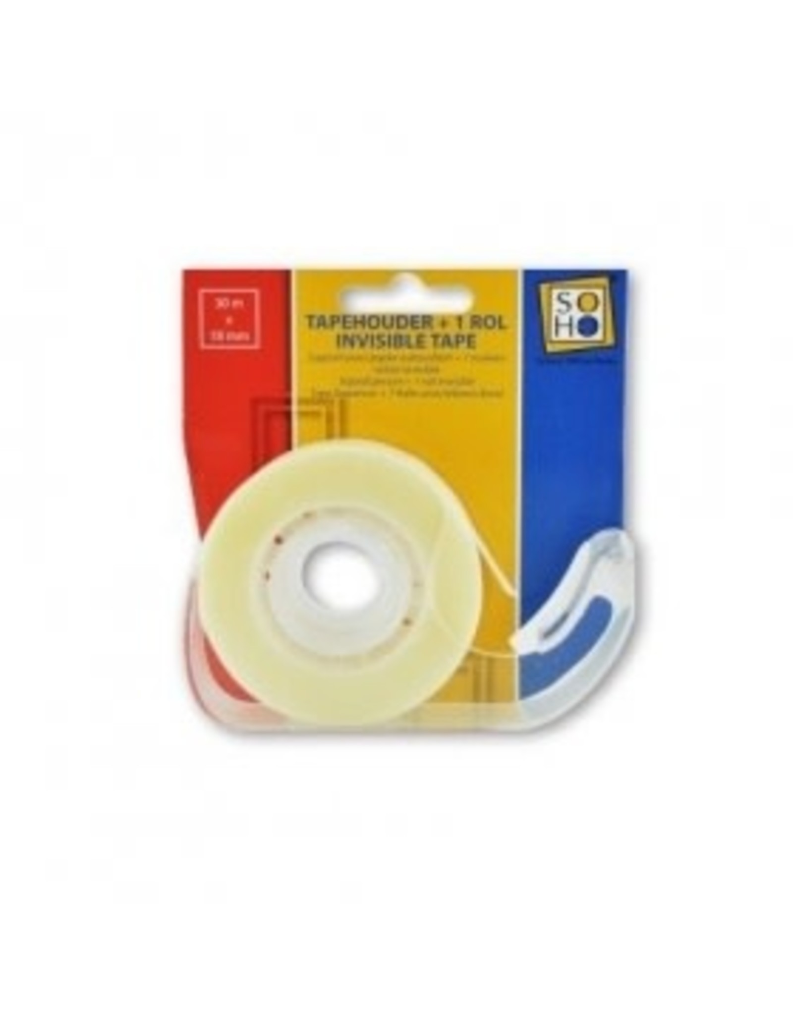 SOHO apehouder met rol Invisible tape 18mmx30m
