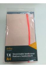 Boekenkaft rekbaar Dresz: A4 Pink