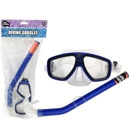 JOLLITY JollyOutside Duikbril+snorkel blauw