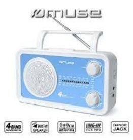 Muse M-05 BL draagbare 4-bands radio