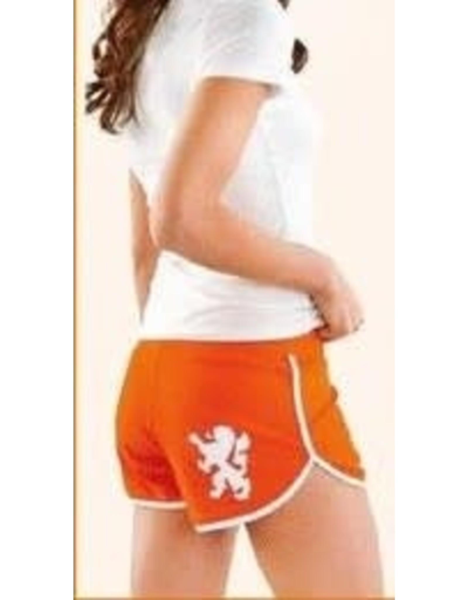 Dames Short Oranje Maat M