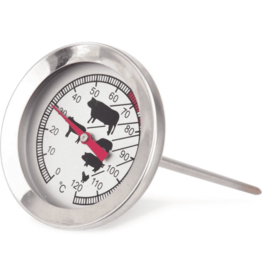 ALPINA Vleesthermometer 12 x 5.5 x 5.5 cm RVS