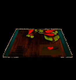 KITCHEN TOOLS Glazen snijplank 35x25 cm