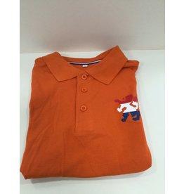 Poloshirt oranje Maat L