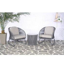 SENS-LINE SenS-Line Porto stoel loungeset - grijs