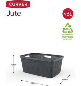 CURVER Curver Jute Wasmand - 46L - Donkergrijs