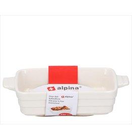 ALPINA Kleine Alpina Ovenschaal 330 ml van keramiek | 18.5 x 10 x 4 cm
